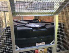 Oil Tank Security Cage